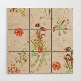 Carnivorous Floral Wood Wall Art