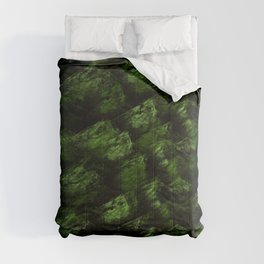 Dark  Abstract  Greens Comforters