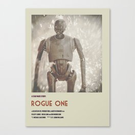 Rogue One Retro Poster VI Canvas Print