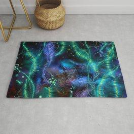 Cosmic Abstract Emerald Rug