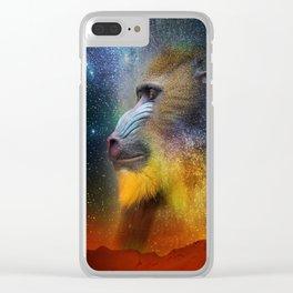 Monkey Head Nebula Clear iPhone Case