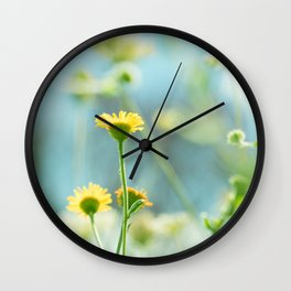 Afternoon in the meadow Wall Clock