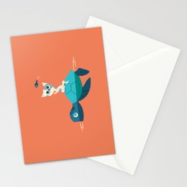 Cat on a Turtle Stationery Cards