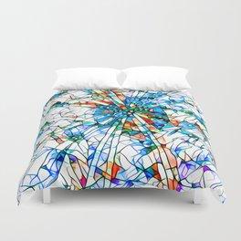 Glass stain mosaic 2 star - by Brian Vegas Duvet Cover