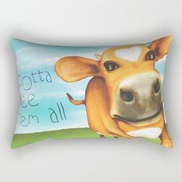 Gotta free 'em all  Rectangular Pillow