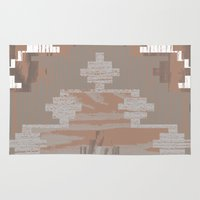 reassurance Area & Throw Rugs featuring Wood print V by Magdalena Hristova