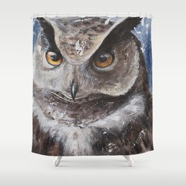 "The Owl - ""Watch-me!"" - Animal - by LiliFlore Shower Curtain"