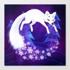 Snow Fox Dream Canvas Print