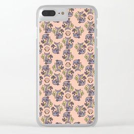 """Dolphin Delight"" Pattern by Mellie Test Clear iPhone Case"