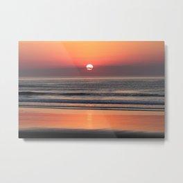 Sunrise over the beach in Ogunquit, Maine  #1 Metal Print