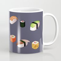 sushi Mugs featuring Sushi by Skrich