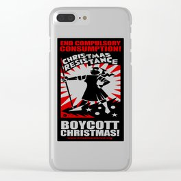 Christmas Resistance  Clear iPhone Case