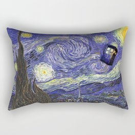 VAN GOGH STARRY NIGHT TARDIS Rectangular Pillow