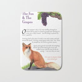 The Fox and the Grapes Bath Mat