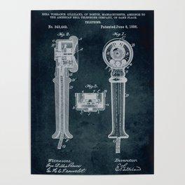 1886 - Telephone patent art Poster