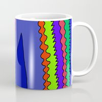 blankets Mugs featuring Abstract 34 by Linda Tomei