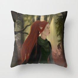 dalish wanderer Throw Pillow