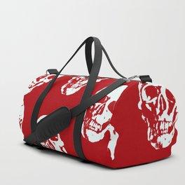Hot Skulls, red white Duffle Bag