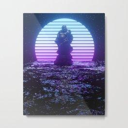 Retrowave Metal Print