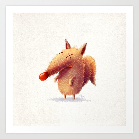 Monday fox Art Print