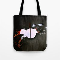 dot Tote Bags featuring dot by oppositevision