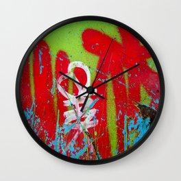 Jardin De Graffiti Wall Clock