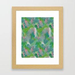 Jungle Hush Wallpaper Framed Art Print