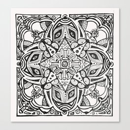 Doodles and Bits Canvas Print