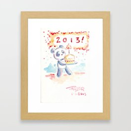 Happy New Year 2013 Framed Art Print