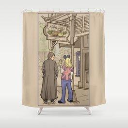 Side Trip Shower Curtain