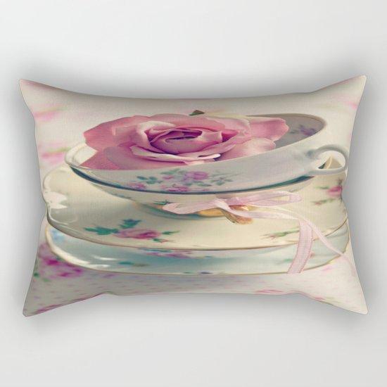 Vintage Tea Cups Rectangular Pillow