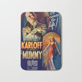 The Mummy vintage movie poster Bath Mat