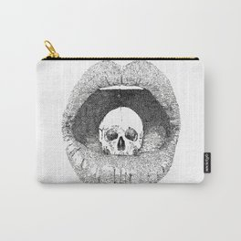 skull in lips Carry-All Pouch