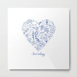 i heart biology Metal Print