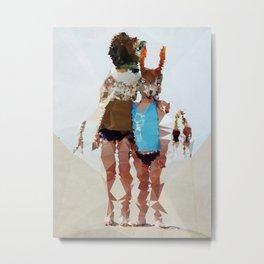 Brother & Sister - Kubistika by Boris Draschoff Metal Print