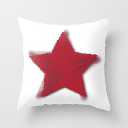 Red Star Challenger Throw Pillow