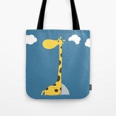 The greedy giraffe Tote Bag