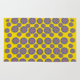 Sunshine and floral in mind for decorative delight Rug
