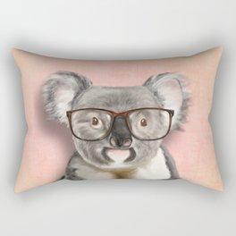 Funny koala with glasses Rectangular Pillow
