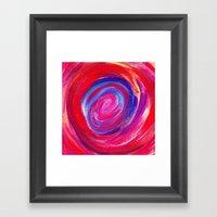 Red Cyclone Framed Art Print