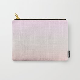 Pastel Millennial Pink Beige Ombre Gradient Pattern Carry-All Pouch