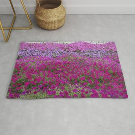 Waves of color on a sea of Petunias Rug