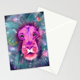 Galaxy Lion Stationery Cards