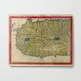 Vintage Map of West Africa (1561) Metal Print