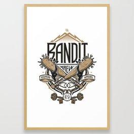 BANDIT KREW Framed Art Print