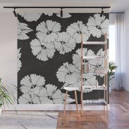 Black Hibiscus Wallpaper Wall Mural