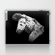 Millennium Falcon Black and White Laptop & iPad Skin