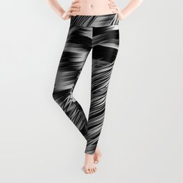 Black and White Abstract Fractal Leggings