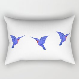 Origami Colibri Rectangular Pillow