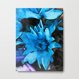 Flowers of Blue with Shadows 1 Metal Print